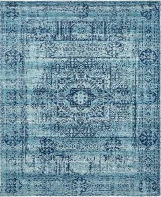 Wisdom Wis3 Turquoise 8' x 10' Area Rug