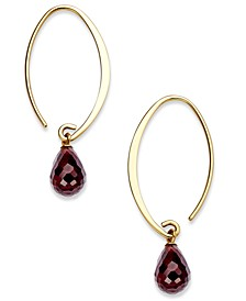 Blue Topaz Long Hoop Earrings (8 ct. t.w.) in 14k Gold (Also Available in Rhodlite Garnet, Citrine, & Amethyst)