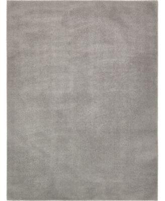 Salon Solid Shag Sss1 Light Gray 2' 7