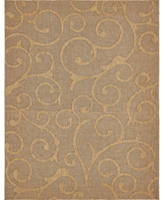 Pashio Pas7 Light Brown 5' x 8' Area Rug