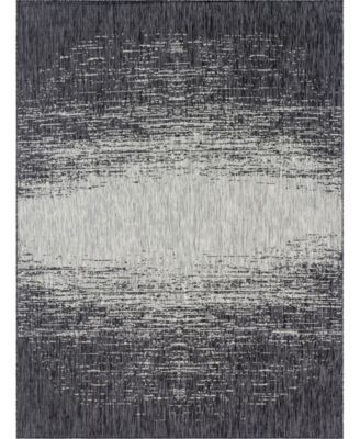 Pashio Pas7 Charcoal Gray 9' x 12' Area Rug