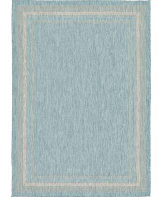 Pashio Pas5 Aquamarine 6' x 9' Area Rug