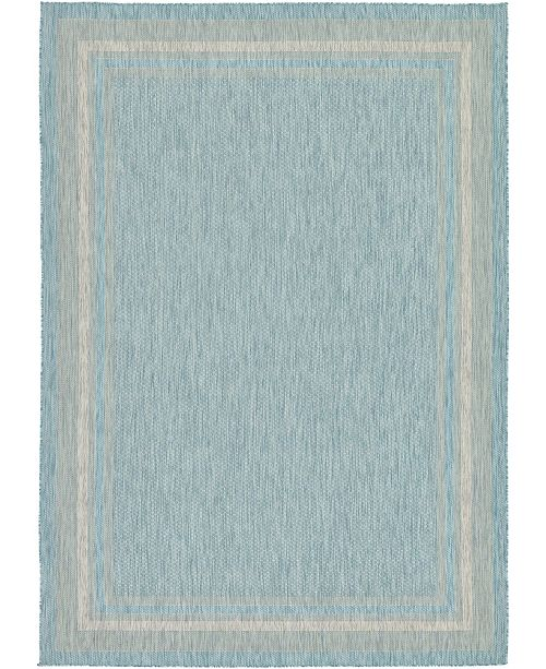 Bridgeport Home Pashio Pas5 Aquamarine Area Rug Collection