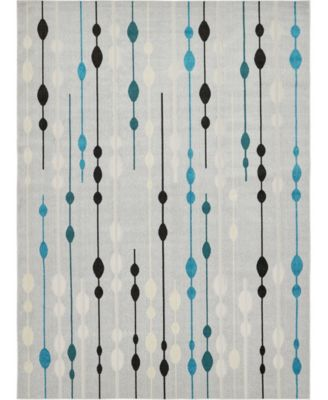 Pashio Pas3 Gray 2' x 6' Runner Area Rug