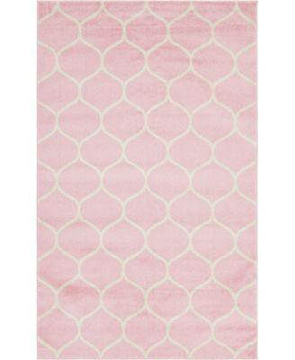 Plexity Plx2 Pink 4' x 6' Area Rug