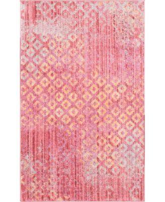 Prizem Shag Prz2 Pink 8' x 8' Square Area Rug