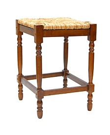 "French Country 24"" Turned Leg Seat Stool, Quick Ship"