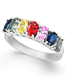 Multi-Sapphire Statement Ring (2-5/8 ct. t.w.) in Sterling Silver