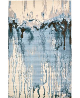 Newwolf New3 Light Blue 7' x 10' Area Rug