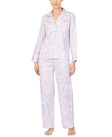 Lauren Ralph Lauren Cotton Woven Printed Pajamas Set