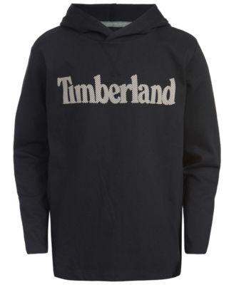 Timberland Big Boys Long Sleeve Signature Logo Fleece Hoodie