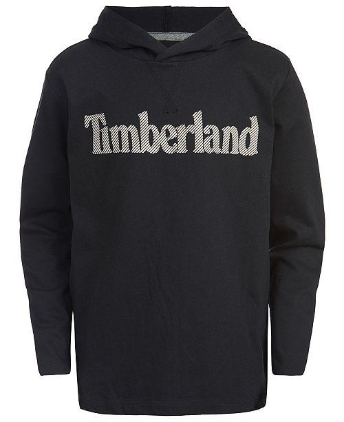 Timberland Big Boys Logo-Print Cotton Hoodie