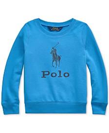 Polo Ralph Lauren Toddler Girls Atlantic Terry Logo Sweatshirt