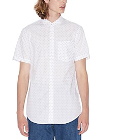 Men's Slim-Fit Dash Print Shirt