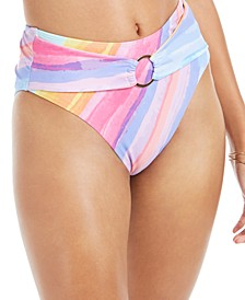 Ombré Stripe Printed High-Waist Bottoms
