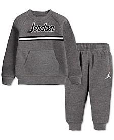 Toddler Boys 2-Pc. Fleece Taping Sweatshirt & Jogger Pants Set