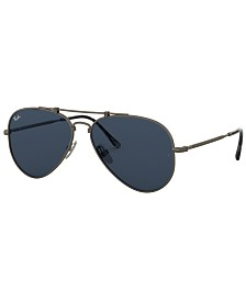 Ray-Ban TITANIUM Sunglasses, RB8125 58