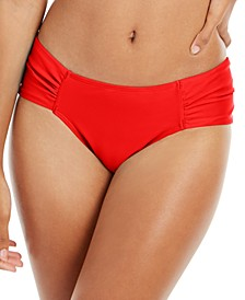 Boardwalk Basics Ruched-Side Bikini Bottoms