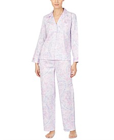 Petite Cotton Woven Printed Pajama Set