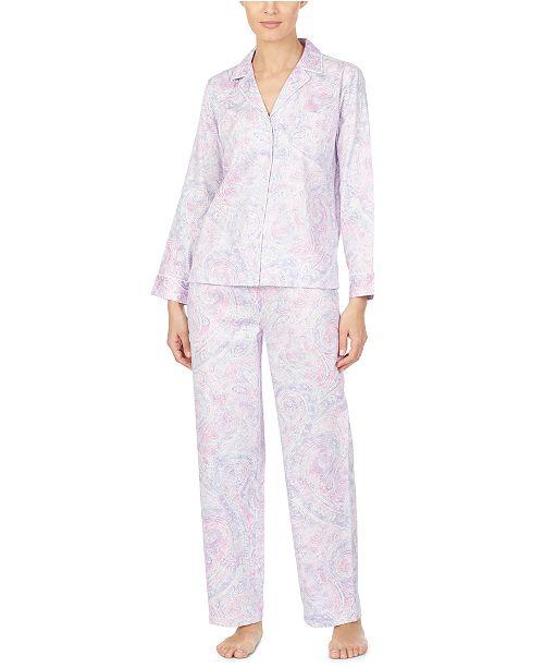 Lauren Ralph Lauren Petite Cotton Woven Printed Pajama Set