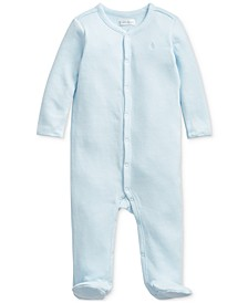 Baby Boys Waffle-Knit Cotton Coverall One Piece Coverall