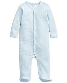 Polo Ralph Lauren Baby Boys Waffle-Knit Cotton Coverall One Piece Coverall