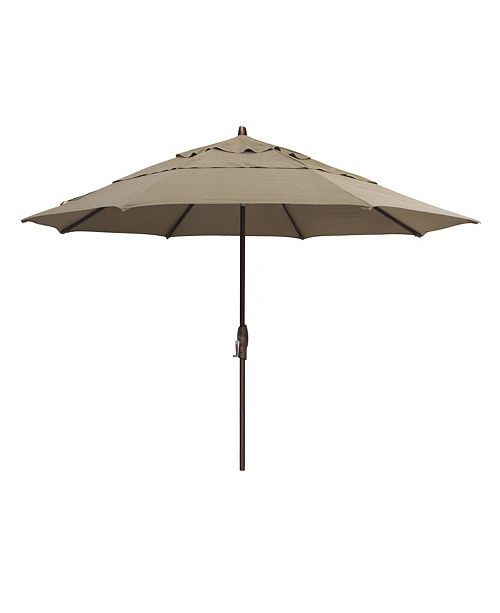 Furniture Patio Umbrella, Outdoor Bronze 11' Auto-Tilt