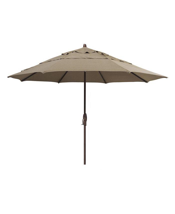Furniture - Patio Umbrella, Outdoor Bronze 11' Auto Tilt