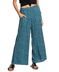 Juniors' Midnight Avenue Floral-Print Soft Pants