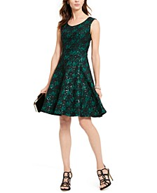 INC Sequined Lace Fit & Flare Dress, Created For Macy's