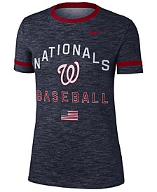 Women's Washington Nationals Slub Crew Ringer T-Shirt
