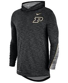 Nike Men's Purdue Boilermakers Hooded Sideline Long Sleeve T-Shirt