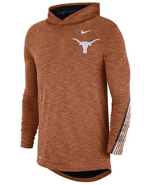 Nike Men's Texas Longhorns Hooded Sideline Long Sleeve T-Shirt