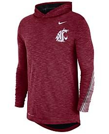 Nike Men's Washington State Cougars Hooded Sideline Long Sleeve T-Shirt