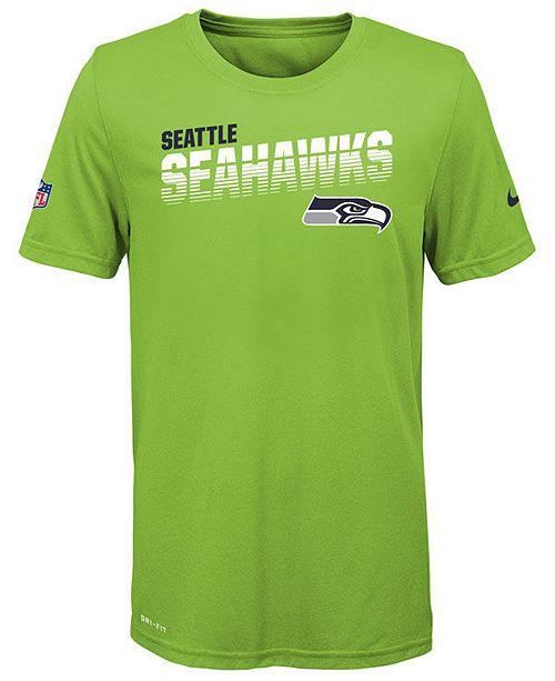 Nike Big Boys Seattle Seahawks Sideline T-Shirt