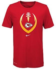 Nike Big Boys Kansas City Chiefs Football Icon T-Shirt