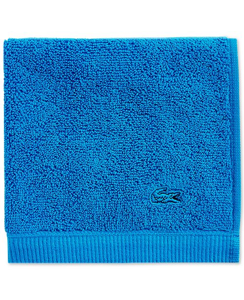"""Lacoste Ace Cotton 13"""" x 13"""" Wash Towel"""
