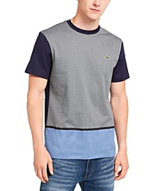 Men's Colorblocked Houndstooth Jacquard T-Shirt