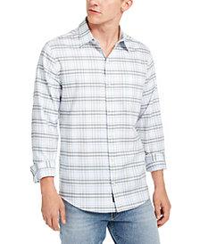 DKNY Men's Windowpane Tartine Shirt