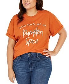 Trendy Plus Size Cotton You Had Me At Pumpkin Spice Graphic T-Shirt