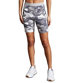 Women's Camo-Print Bike Shorts