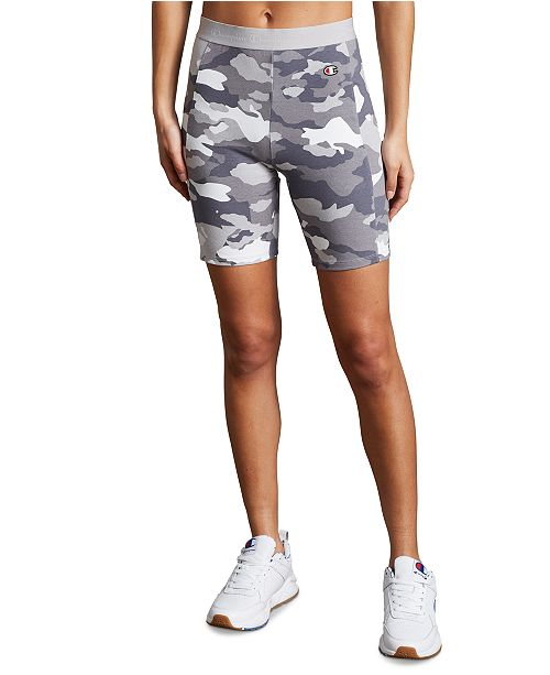 Champion Women's Camo-Print Bike Shorts