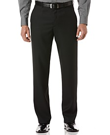Portfolio Classic Fit Flat Front Sharkskin Men's Dress Pants