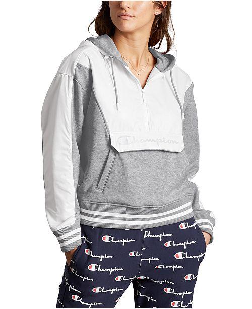 Champion Women's Sideline Colorblocked Half-Zip Hoodie