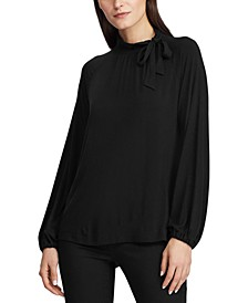 Tie-Neck Jersey Top