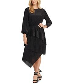 DKNY Tonal Leopard-Print Layered Dress
