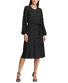 Blouson-Sleeved Maxi Dress