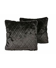 "2-pack Belton Faux Fur Pillow 18"" x 18"""