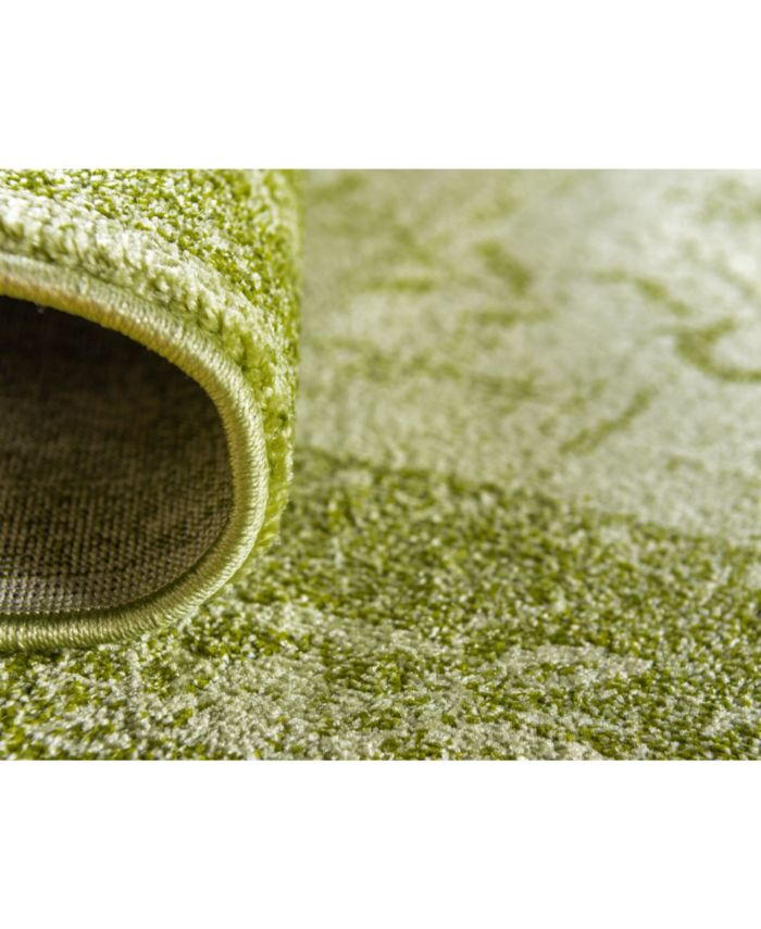 Bridgeport Home Aldrose Ald4 Light Green Area Rug Collection & Reviews - Rugs - Macy's