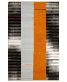 Aryn Stripe LRL7310A Persimmon Area Rug Collection